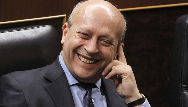 José Ignacio Wert, este jueves en el Congreso
