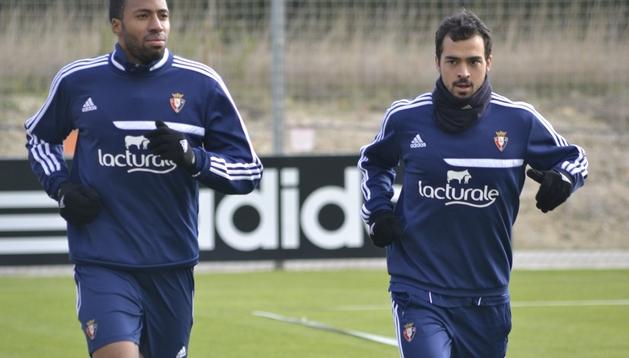 Entrenamiento de Osasuna de cara al Valencia