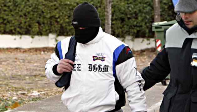Ricart, a su salida de la prisión de Herrera de la Mancha