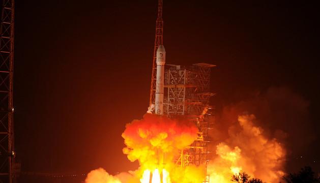 La sonda china Chang E 3, en el momento de su lanzamiento