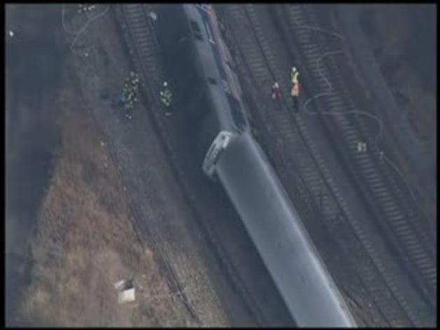 Descarrilamiento de un tren en el Bronx