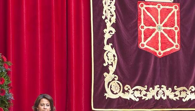 Yolanda Barcina, durante su intervención.