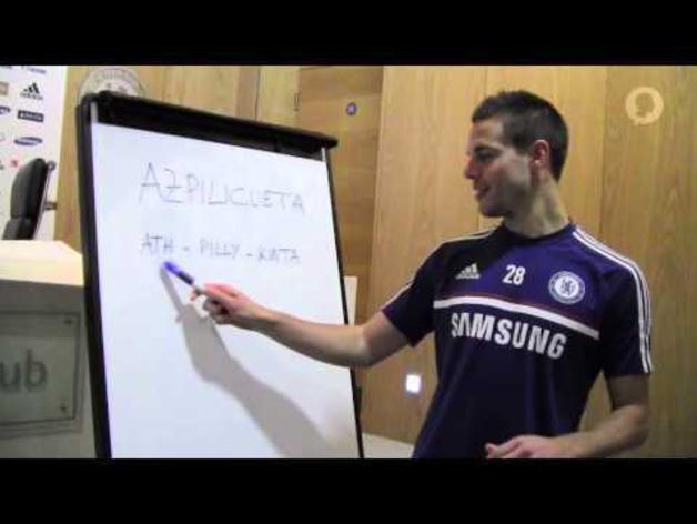 Azpilicueta enseña a pronunciar su apellido en inglés