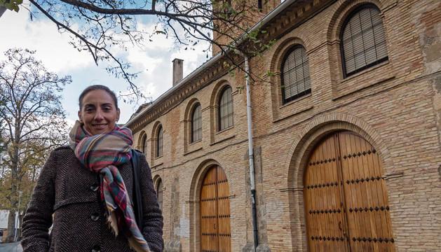 Juániz junto al convento de Santa Clara, lugar de recuerdos infantiles