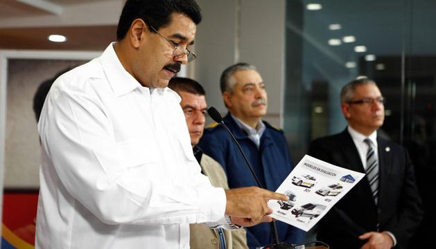 El presidente Nicolás Maduro durante una alocución de televisión, en Caracas.