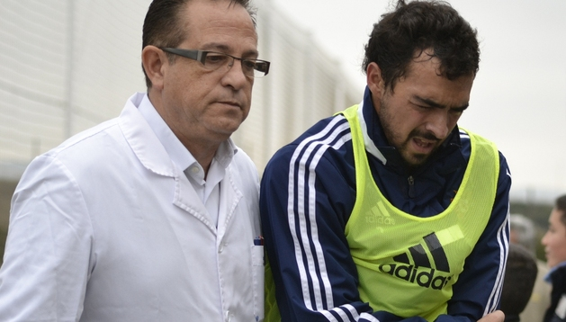 Miguel de las Cuevas se retira lesionado de Tajonar