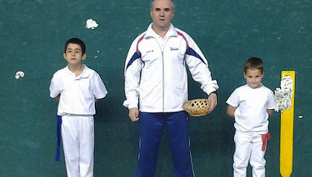 Los pelotaris Mikel Albizu y Marcos Crespo