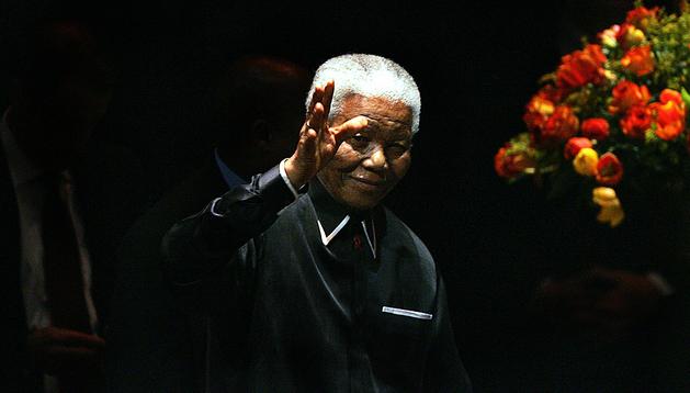 Nelson Mandela, durante un acto en Johannesburgo el 19 de julio de 2005