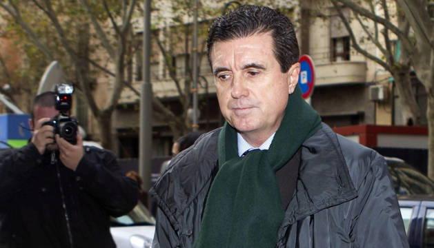 El expresidente del Gobierno Balear, Jaume Matas, a su llegada al juicio el miércoles