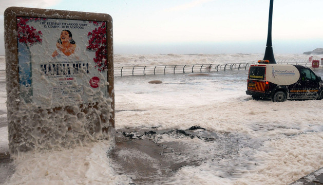 Una gran tormenta en el Mar del Norte ya ha afectado a ciudades como Blackpool