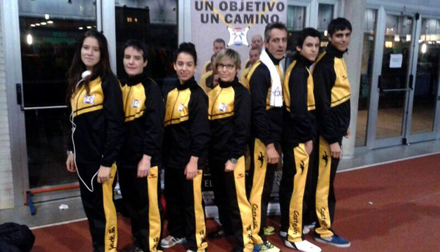 Alumnos y monitores de Castejón presentes en Pamplona