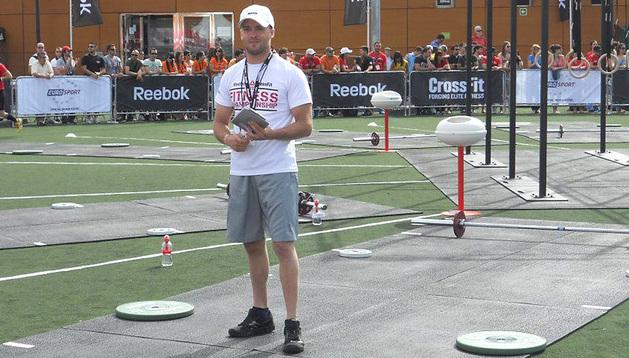 El entrenador y competidor navarro de CrossFit Alejandro Fernández.