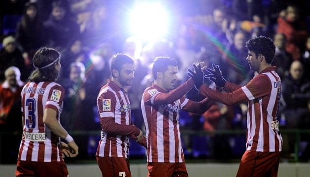 El Atlético brilla y resuelve la eliminatoria en veinte minutos