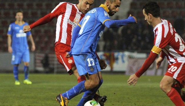 El Girona planta cara al Getafe (1-1) y decidirá el Alfonso Pérez