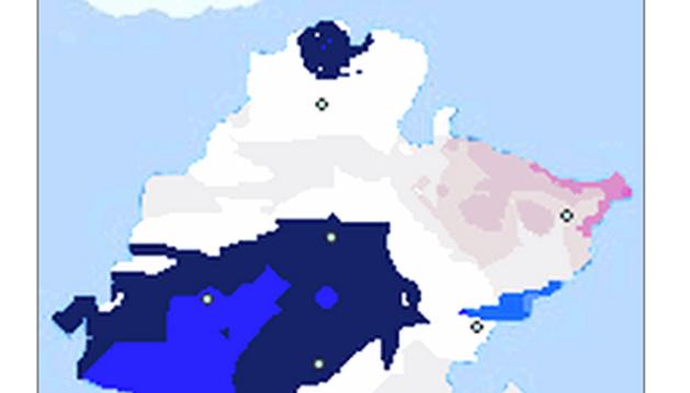 Mapa de temperaturas de las 07.10 horas registradas en la Comunidad foral