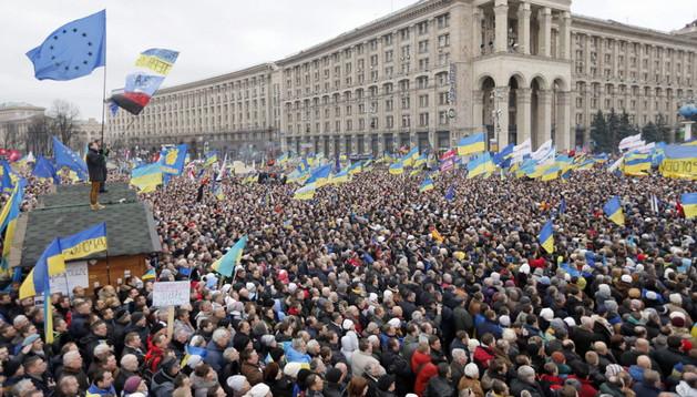 Protestas de ciudadanos en Kiev, Ucrania