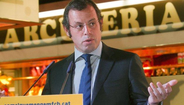 Rosell, presidente del Barcelona, se defiende de las acusaciones