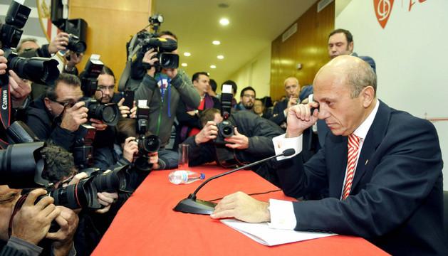 José María del Nido, durante su comparecencia ante los medios donde anunció su retirada