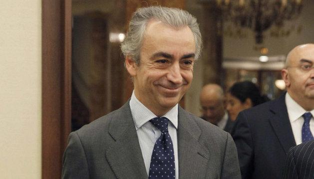 El secretario de Estado de Hacienda, Miguel Ferre, momentos antes de su intervención este lunes en un desayuno de trabajo