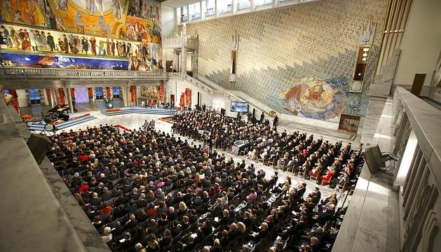Ceremonia de entrega de los Premios Nobel 2013