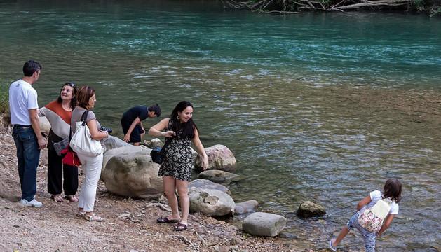 El río Ega a su paso por Estella