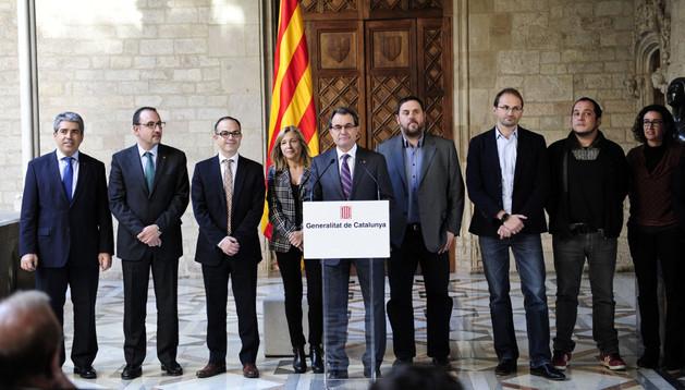 Artur Mas durante una rueda de prensa este jueves 12 de diciembre