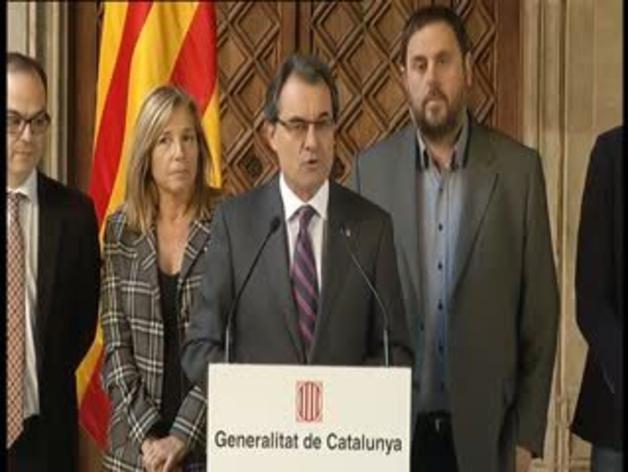 Artur Mas anuncia los términos de la consulta soberanista