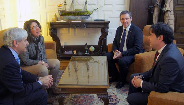 Izda. a dcha: Julián Cámara, Carmen Alba, Pedro García y Antonio García