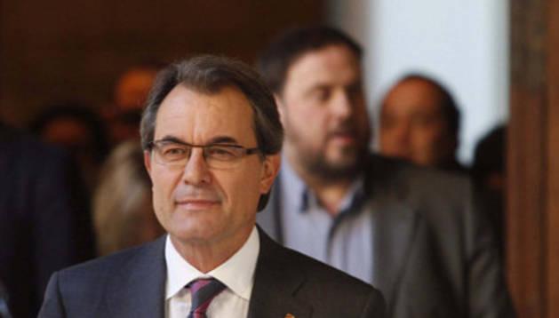 Artur Mas el 12 de diciembre, cuando se decidieron las preguntas de la consulta