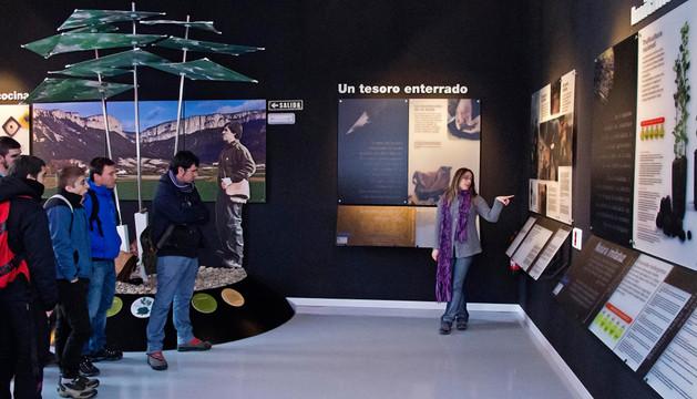 Un grupo de estudiantes en una visita reciente al museo de la trufa de Metauten