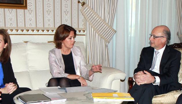 Lourdes Goicoechea, Sáenz de Santamaría, Barcina, Montoro y Beteta en Madrid.