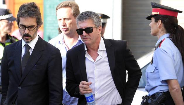 Jorge Messi, con su abogado en septiembre