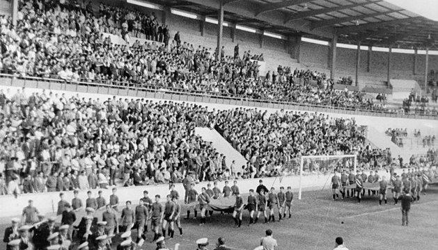 Día de la inauguración de El Sadar el 2 de septiembre de 1967