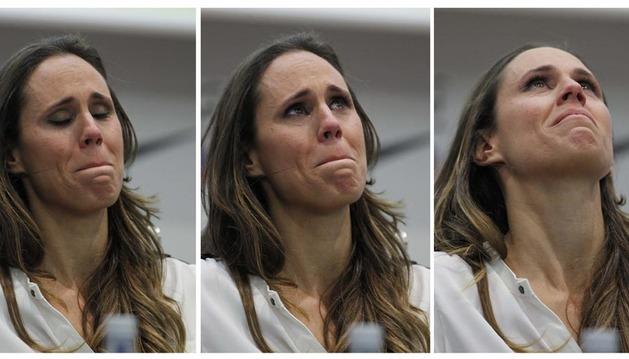 Amaya Valdemoro se retira entre lágrimas