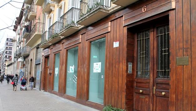 Local del antiguo restaurante Las Pocholas, en el número 6 del paseo de Sarasate.
