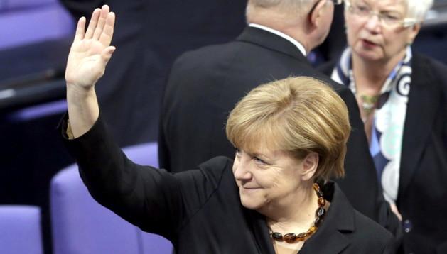 Angel Merkel en la sesión de investidura