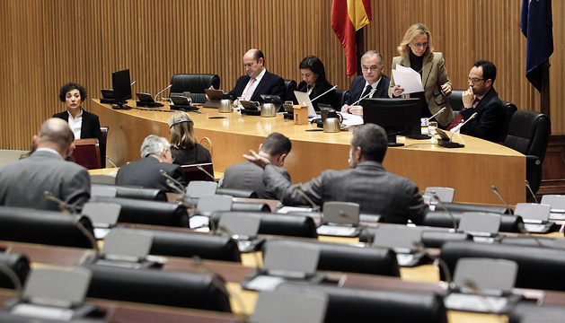 Vista general de la Comisión de Interior del Congreso este martes