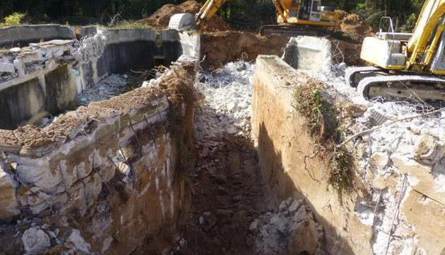 Una imagen de las obras desarrolladas recientemente, con la preparación del terreno antes de dejarlo completamente llano.