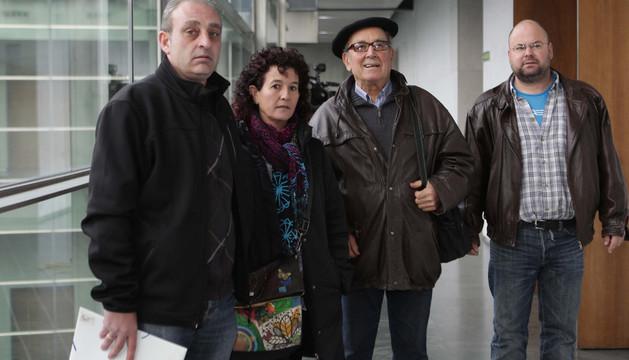 Desde la izda., José Miguel Cabañas, Idoia Elizalde, Arcadio Ibáñez y Victorio Tapiz.