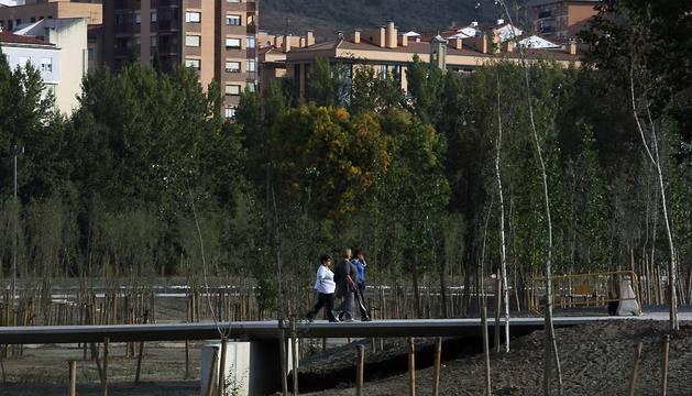 Obras en el parque de Aranzadi el pasado mes de septiembre