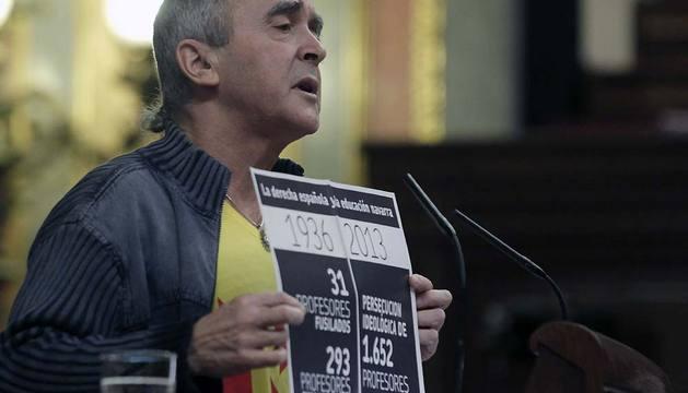 El diputado de Amaiur Sabino Cuadra ha denunciado en el Congreso