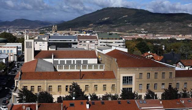 Vista aérea del colegio Salesianos