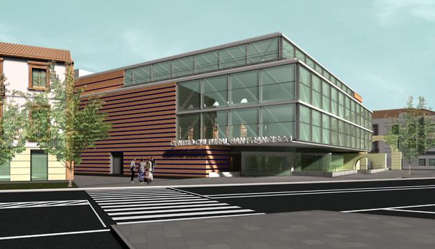 Imagen virtual del proyecto de Rafael Moneo para el centro cultural en el antiguo edificio de Sementales.