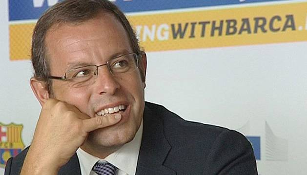 El presidente del Barcelona, Sandro Rosell
