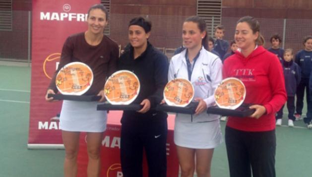 Marta Sexmilo, subcampeona de España de dobles
