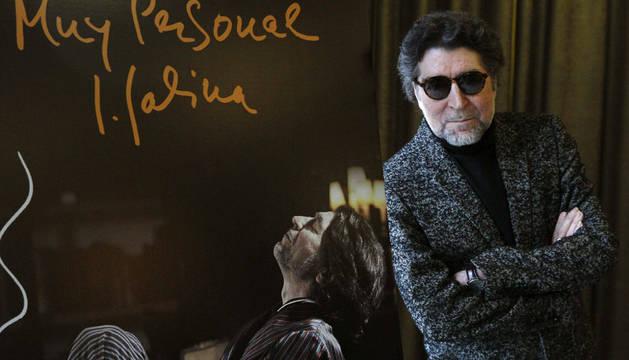 El cantante Joaquín Sabina en la presentación de su libro 'Muy Personal'