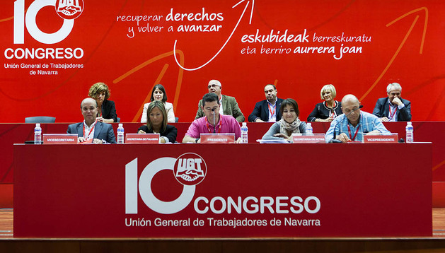Un momento del último congreso de la UGT de Navarra, en junio pasado