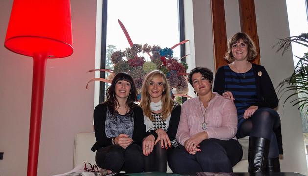 Mari Rekalde, Iosune Ezkiroz Orduña, Erika Barral Lucas y Elisa Jiménez