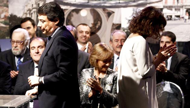 El presidente de la Comunidad, Ignacio González, y la alcaldesa de Madrid, Ana Botella, durante un acto