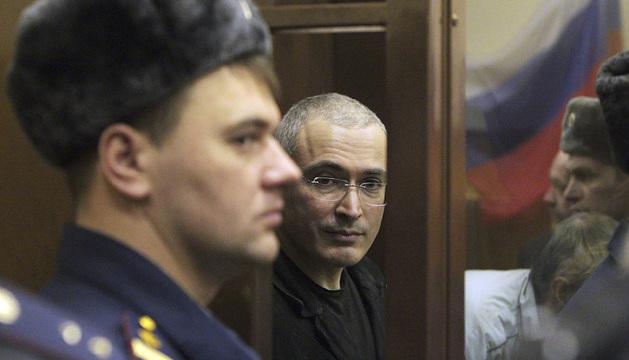 El fundador de la expropiada petrolera Yukos, Mijaíl Jodorkovski.